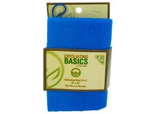 Wholesale: Blue exfoliating wash twl