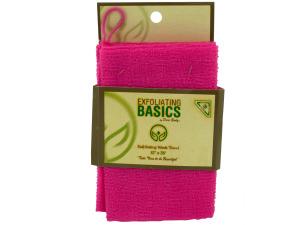 Wholesale: Pink Exfoliating Wash Towel