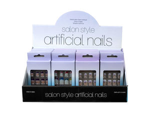 Wholesale: French Tip Artificial Nails Countertop Display