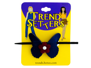 Wholesale: Butterfly Hair Clip with Wooden Stick
