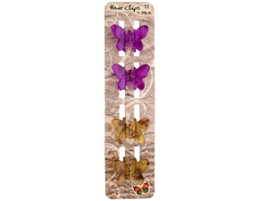Wholesale: Butterfly Jaw Hair Clips