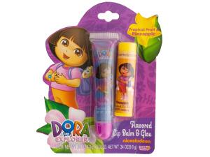 Wholesale: Dora the Explorer Flavored Lip Balm and Gloss Set