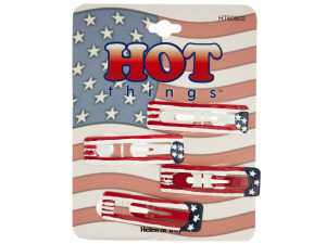 Wholesale: Stars and Stripes Barrettes