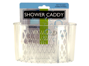 Wholesale: Transparent Shower Caddy with Suction Cups