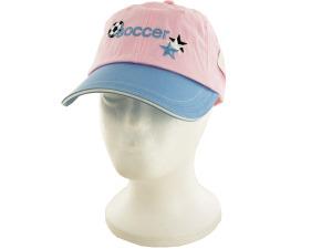 Girls Pink & Blue Soccer Cotton Cap