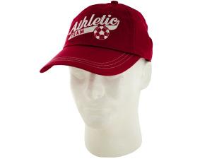 Boys Red Athletic Team Cotton Cap