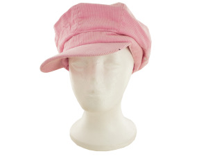 Pink Cotton Corduroy Paperboy Cap