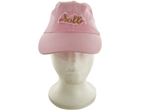 Pink Cotton Cap with Frayed Patch