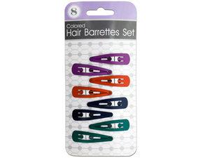 Wholesale: Colored Hair Barrettes Set