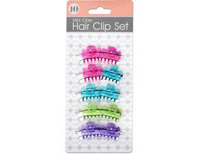 Wholesale: Colored Mini Claw Hair Clip Set