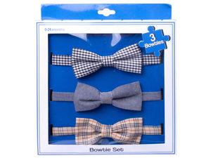 Wholesale: Luv Him Baby Bowtie Set of 3