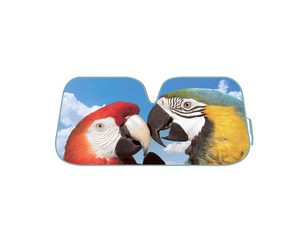 Parrots Reversible Auto Shade with Silver Backing