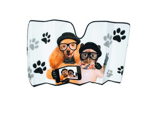 Dog & Cat Reversible Auto Shade with Silver Backing