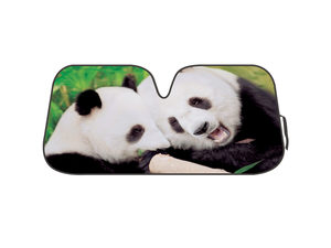 Panda Reversible Auto Shade with Silver Backing
