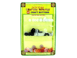 Wholesale: Assorted craft buttons, pack of 100