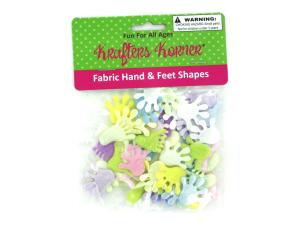 Wholesale: Craft Fabric Hand & Feet Shapes