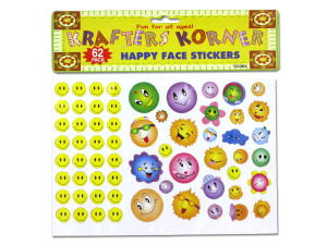 Wholesale: Happy face stickers