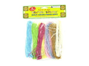 Wholesale: 9 Pack multi-colored paper rope