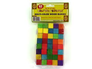 Wholesale: 80 piece color wood blocks