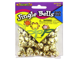 Wholesale: 13mm Gold jingle bells