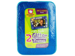 Glitter craft frames
