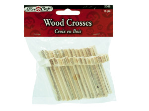 Wholesale: 15pk wooden craft crosses