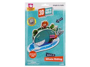 Wholesale: Build-A-Whale Riding 3D Pop'N Build Kit