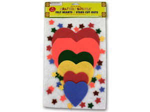 Wholesale: Felt hearts and stars cut outs