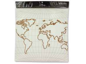 Wholesale: World overlay for scrapbooking or paper crafting