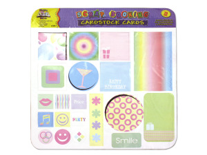Wholesale: Cardstock tags for scrapbooking, assorted designs