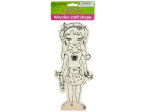 Wholesale: Wooden Girly Craft Shape