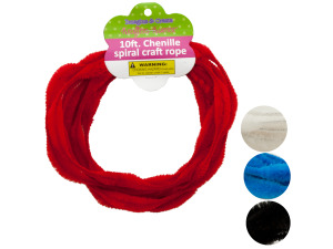 Wholesale: Chenille Spiral Craft Rope
