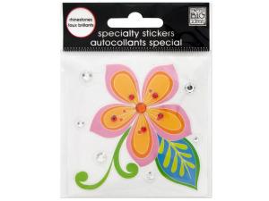 Wholesale: Surf Shop Flower Rhinestone Specialty Sticker