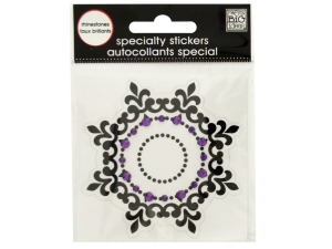 Wholesale: Black Icon Rhinestone Specialty Sticker