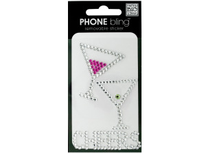 Wholesale: 'Cheers' Phone Bling Removable Stickers