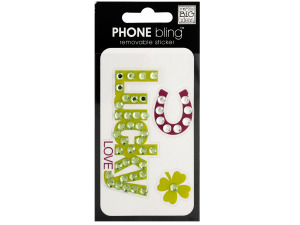 Wholesale: Lucky Love Phone Bling Removable Sticker