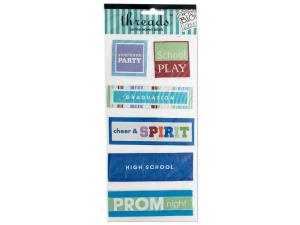 Wholesale: High School Jumbo Woven Labels
