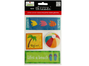 Wholesale: Summer Jumbo Woven Labels
