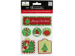 Wholesale: Merry Christmas Jumbo Woven Labels