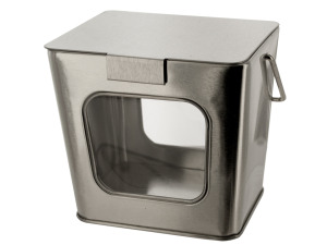 Wholesale: Silver Tin Take Out Box with Acetate Windows