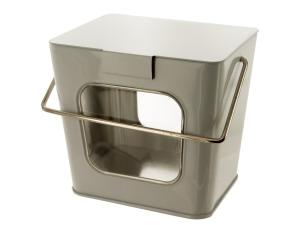 Wholesale: White Tin Take Out Box with Acetate Windows