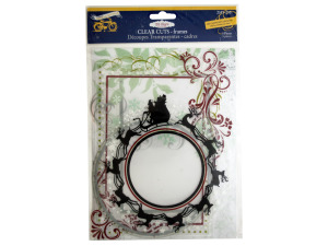 Wholesale: Clear Cuts Christmas Frames with Glitter Accents