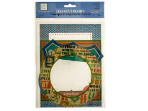 Wholesale: Clear Cut Travel Frames with Metallic Accents