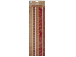 Wholesale: Reds Decorative Fabric Borders Stickers