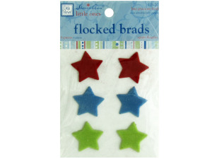 Wholesale: My Precious Boy Flocked Star Brads