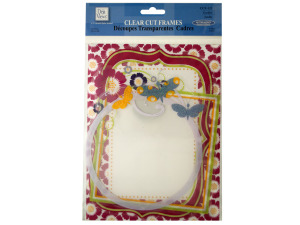 Wholesale: Clear Cut Garden Frames with Glitter Accents