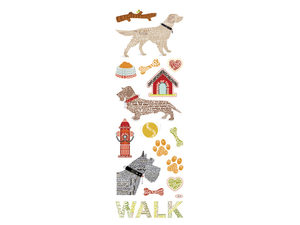 Wholesale: Momenta Stickers with 16 Dog Word Images