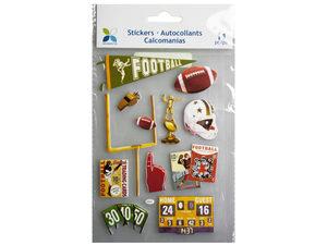 Wholesale: Momenta 11 Piece 3D Vintage Football Stickers