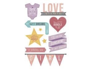 Wholesale: Momenta 10 Piece Baby Girl Foam Stickers