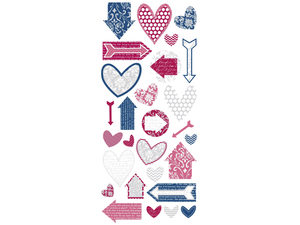 Wholesale: 28 Piece Stickers with Romantic Designs